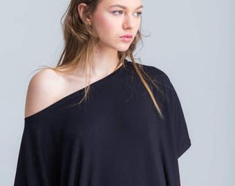 Black Maxi Dress \ FREE Shipping \ CUSTOM MADE \ Oversized Dress \ Infinity Dress \ Plus Size Dress \ Party Dress