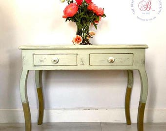 Vintage dressing table. Vanity unit. Writing table. Vintage desk. Vintage sideboard. Storage. Vintage table. Painted dressing table.