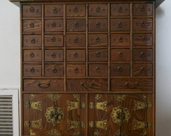 Antique Chinese 35 drawer cabinet, Apothecary, Medicine Cabinet