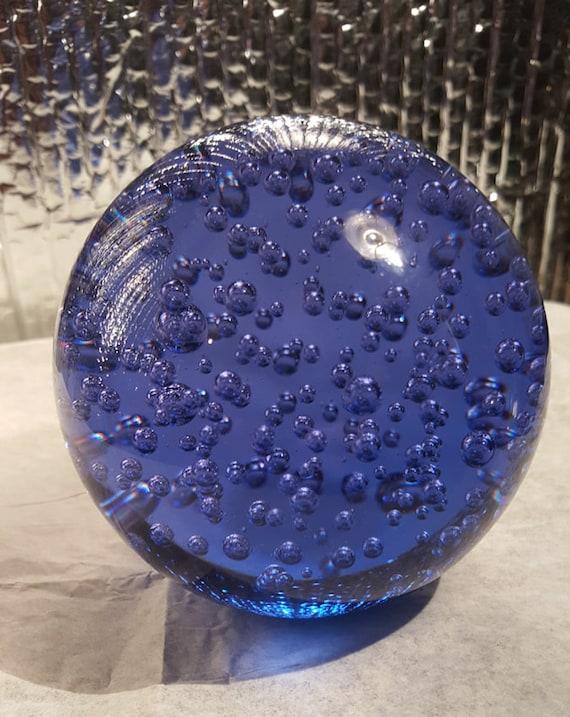 Blue bubble glass globe ikea makta solid sphere