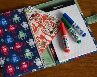 Crayon Wallet, Coloring Wallet, Art Wallet, Crayon Organizer, Crayon Travel Bag, Kids Gift, Kids Journal, Kids Coloring Book, Travel Art