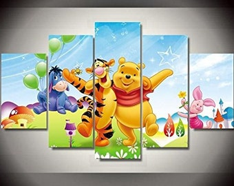 Winnie the Pooh Disney print canvas decoration 5 pieces