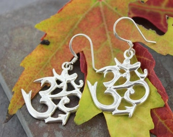 Sanskrit Om Earrings