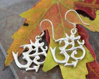 Sanskrit Om Earrings