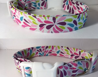 Spring Rain Colorful Dog Collar