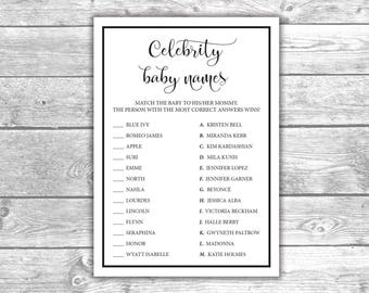 Celebrity couple names bridal shower game