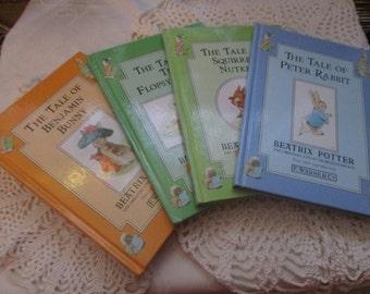 Beatrix Potter Books F.Warne & Co  Set of Four Books Including Peter Rabbit (1992)
