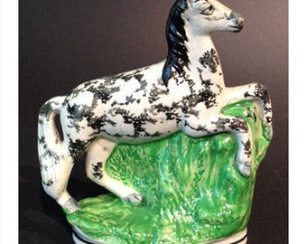 Antique Staffordshire Horse