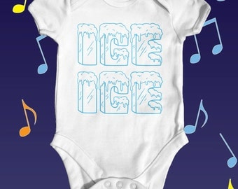 Ice Ice Music Baby Bodysuit | Funny Baby Bodysuit | Cute Baby Bodysuit | Funny Baby Clothes | Baby Shower Gift | 90's  Music Baby Bodysuit