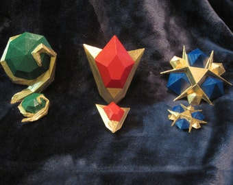 3D Printed Legend of Zelda Spiritual Stones