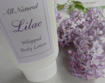 Lilac - Whipped Body Lotion - Shea Butter - Apricot Kernel Oil - All Natural - Skin, Body Care - Vegan