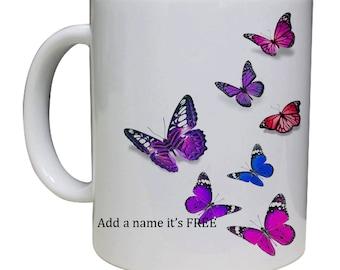 Beautiful Butterfly Mug/Tea/Coffee/Mug