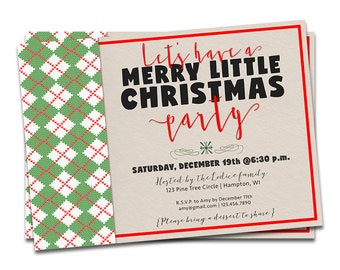 Rustic Holiday Party Invitation, Merry Christmas Invitation Printable, Sweater Christmas Invitation, Christmas Sweater Invite