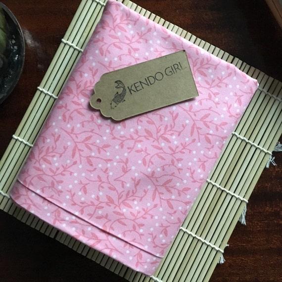 Custom Sword Carrying Bag for Japanese Martial Arts - Kendo Iaido Naginata - Floral Bubblegum Pink Design by Kendo Girl