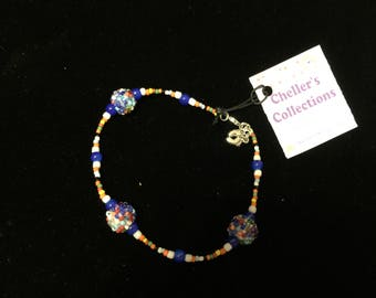 Hand Crafted Beaded Ankle Bracelet Glass Original
