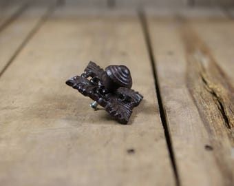 Ornate Rustic Cast Iron Drawer Knob Pull Handle