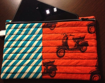 Vespa scooter tablet cover, kindle paperwhite case, scooter kindle sleeve, ipad sleeve, moped scooter stationary case, tablet sleeve