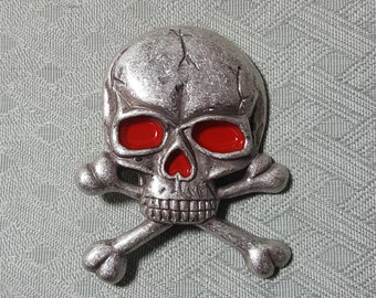 Skull crossbones belt buckle