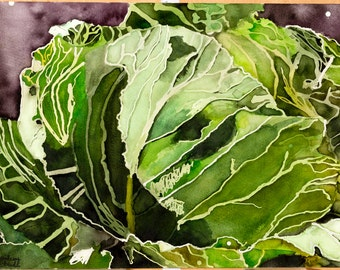 Cabbage Painting (print)
