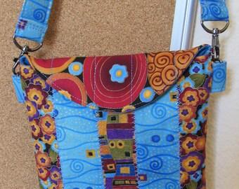 Girls Have Some Fun Blue Patchwork Purse - Sac à main bleu patchwork pour filles
