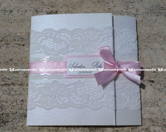 Lace invitation (10 PCS)