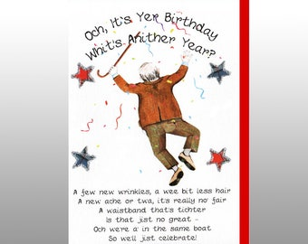 Scottish Birthday 'Whit's Anither Year' Card WWBI119