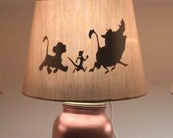 Inspired lion king mason lamp