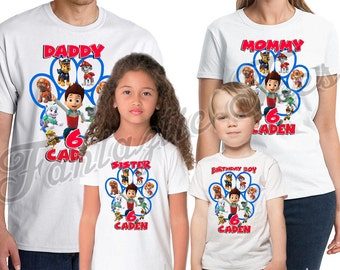 Paw Patrol Birthday Shirt Add Name & Age Custom  Paw Patrol Birthday Party TShirt 07