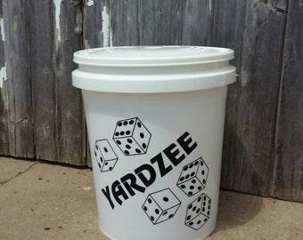 Yardzee Bucket Only - Lawn Dice Storage - Dice Bucket - Family Dice Bucket - Summer Fun - 5 gallon Bucket