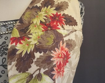 40's Handmade Bark Cloth Vest