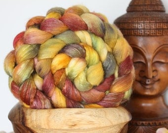 Autumn-3.5 oz (100 grams) of Luxurious soft Fiber for spinning, felting or fiber art.