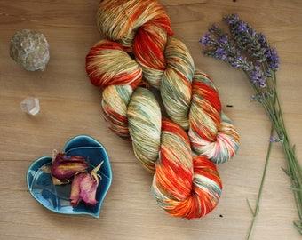 Machine Wash Merino Sock Yarn - hand dyed - 100g