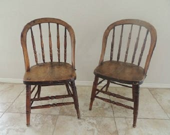 19th Century Antique Spindle Back Chairs