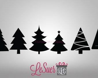 Christmas Trees, Trees, Evergreens Cut File