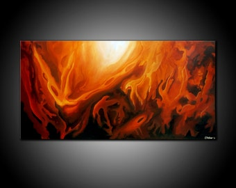LARGE, Original ABSTRACT PAINTING, canvas, Wall Art, Modern, Contemporary, brown, burnt sienna, creams, white