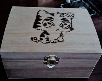 Cute Kitten Jewellery Box