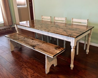 kids farmhouse table kids table set kids furniture kids