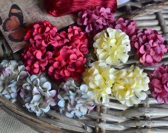 Artificial silk fabric flowers I Flower heads I Silk flowers I Artificial flowers I Millinery flowers I Wedding flowers I Hair flowers