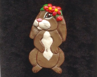 Mitzy Bunnywell - Bunny Brooch