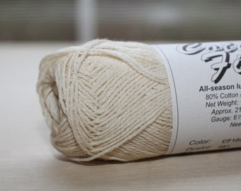 Brown Sheep Cotton Fine, color CF 105, lot 085   Putty (natural)