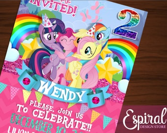 My little Pony printable invitation