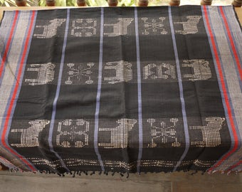 Naga Cotton traditional textile, handmade blanket wall hanging cover
