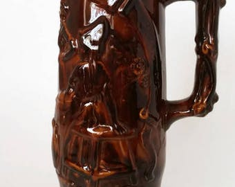 Brown Glazed German Beer Stein