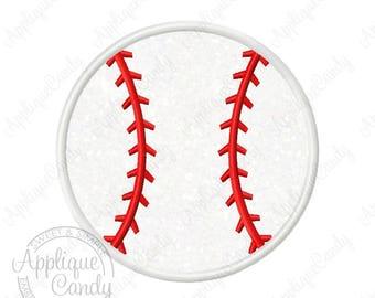 Baseball Applique Machine Embroidery Design Digital File 3x3 4x4 5x5 6x6 7x7 8x8 bball ball sport sports softball soft base INSTANT DOWNLOAD