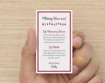 Rodan + Fields | Merry Kiss-mas 2-step Card **Business Card Size** (Customized Digital PDF)