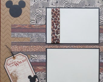 Disney - Animal Kingdom - Double Page - 12X12 Scrapbook Layout