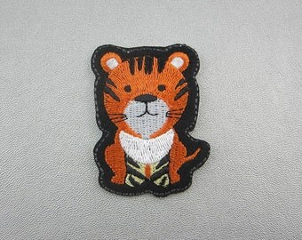 Embroidered Tiger Iron on Patch