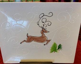 Reindeer Christmas Platter