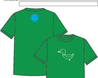 Mallards T-shirt//Awe-tisms//Autism//Screen Printing