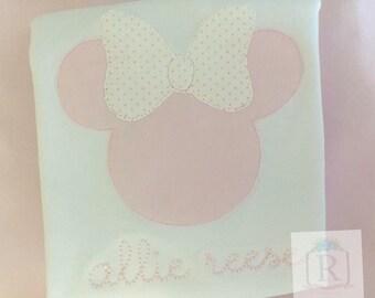 Pink mouse applique
